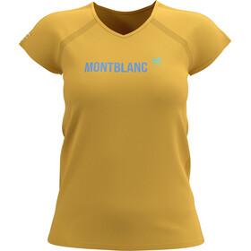 Compressport Training SS T-Shirt Mont Blanc 2021 Women, żółty